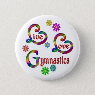LiveLiebe-Gymnastik Runder Button 5,7 Cm
