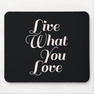 LiveLiebe-Inspirational Zitat-Geschenk-Schwarzes Mousepads