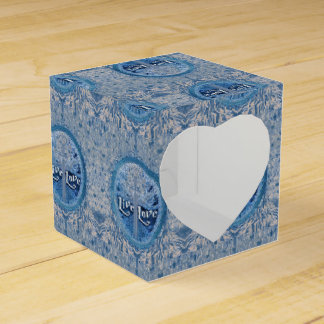 LiveLiebe-Kreuz-blauer Baum des Leben-Musters Geschenkschachtel