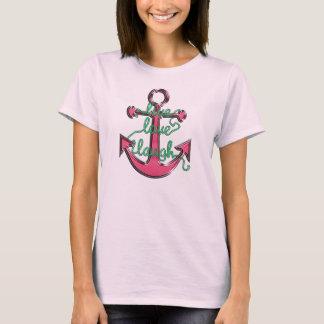 LiveLiebe-Lachen-Anker T-Shirt
