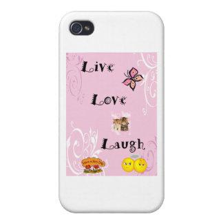 LiveLiebe-Lachen iPhone 4 Schutzhüllen