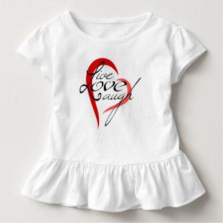 LiveLiebe-Lachen - Kleinkind gekräuseltes T-Stück Kleinkind T-shirt