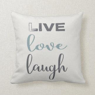 LiveLiebe-Lachen-Typografie| Throw-Kissen Kissen