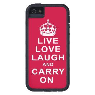 LiveLiebe-Lachen und macht weiter iPhone 5 Schutzhülle
