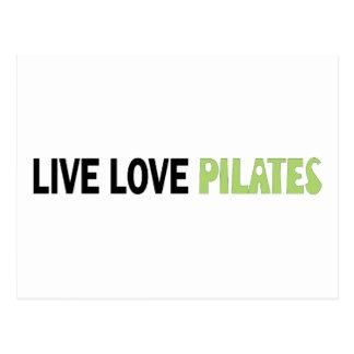 LiveLiebe Pilates! Ursprünglicher Entwurf! Postkarte