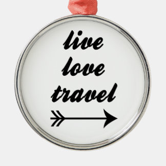 LiveLiebe-Reise Silbernes Ornament