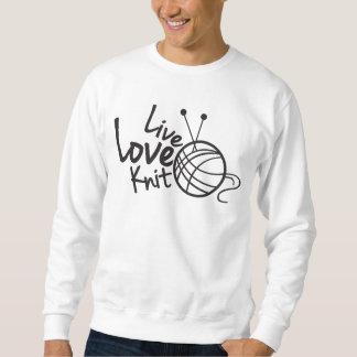 LiveLiebe-Strick strickendes | Sweatshirt