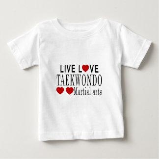 LIVELiebe-TAEKWONDOkriegskünste Baby T-shirt