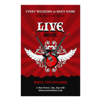 Livemusik-Konzert-/Party-Flyer 14 X 21,6 Cm Flyer