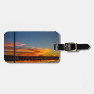Liverpool-Bucht-Sonnenuntergang Gepäckanhänger
