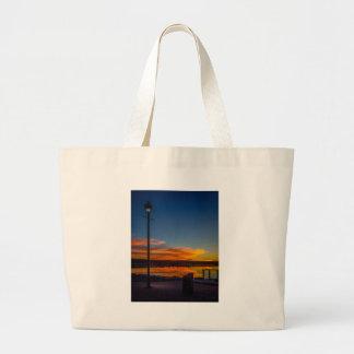 Liverpool-Bucht-Sonnenuntergang Jumbo Stoffbeutel