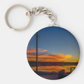 Liverpool-Bucht-Sonnenuntergang Schlüsselanhänger