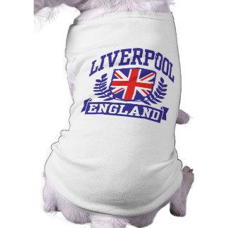 Liverpool England Ärmelfreies Hunde-Shirt