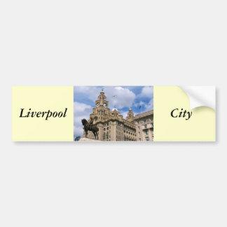 Liverpool - Leber-Gebäude Autoaufkleber