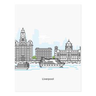 Liverpool-Ufergegend Postkarten