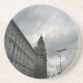 Liverpools Strang-Straße mit Leber-Vogel Untersetzer