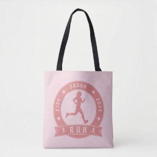 Liveweiblicher Laufkreis des lachens Liebe (Rosa) Tasche
