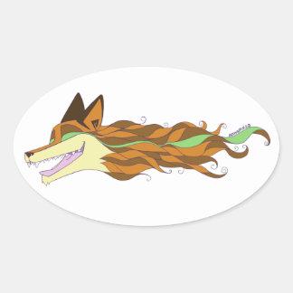 Livewild ursprünglicher Aufkleber Fox Farb