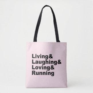 Living&Laughing&Loving&RUNNING (Schwarzes) Tasche