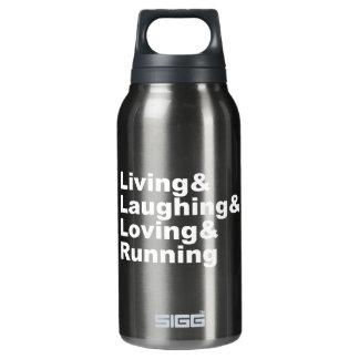 Living&Laughing&Loving&RUNNING (weiß) Isolierte Flasche