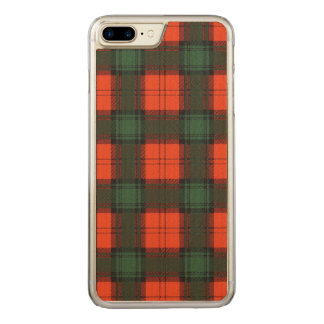 Livingston-Clan karierter schottischer Tartan Carved iPhone 8 Plus/7 Plus Hülle