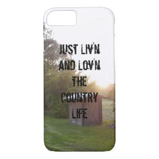 """""""Liv'n und Lov'n das Landleben"""" iPhone 7 Fall iPhone 8/7 Hülle"""