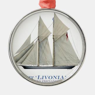 Livonia 1871 silbernes ornament