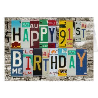 Lizenz-Teller-glückliche 91. Geburtstags-Karte Karte