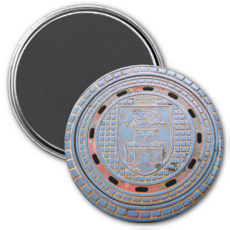 Ljubljana-Abwasserkanal-Abdeckung Runder Magnet 7,6 Cm