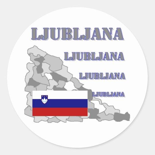 Ljubljana Runder Aufkleber