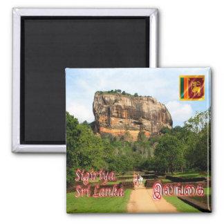 LK - Sri Lanka - die Sigiriya Felsenfestung Quadratischer Magnet
