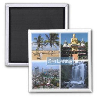 LK * Sri Lanka Quadratischer Magnet
