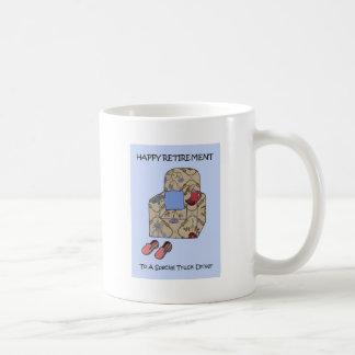 LKW-Fahrer glücklicher Ruhestand Kaffeetasse
