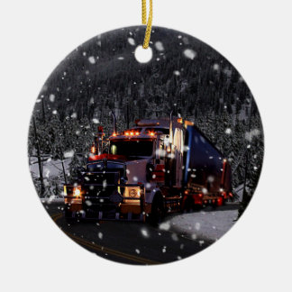 LKW-Fahrer-Weihnachten Keramik Ornament