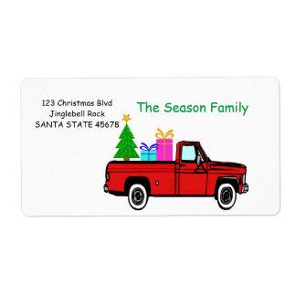 LKW- und Baum Weihnachtsaufkleber