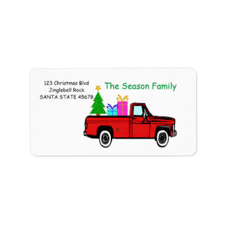 LKW- und Baum Weihnachtsaufkleber Adressaufkleber