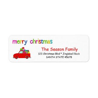 LKW- und Geschenke Weihnachtsaufkleber frohe