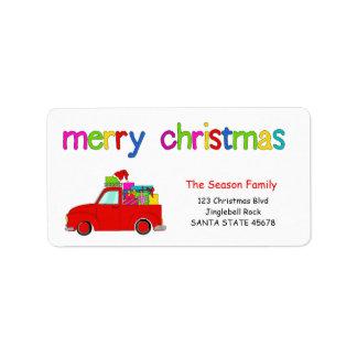 LKW- und Geschenke Weihnachtsaufkleber frohe Adressaufkleber