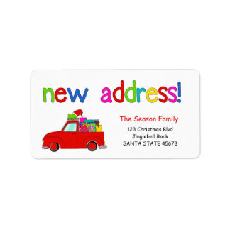 LKW- und Geschenke Weihnachtsaufkleber neue Adressaufkleber
