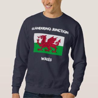 Llandudno Kreuzung, Wales mit Waliser-Flagge Sweatshirt