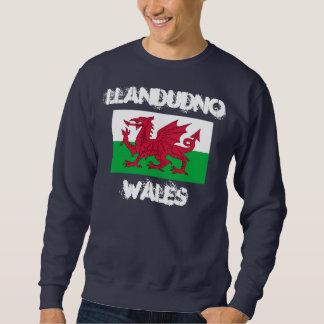 Llandudno, Wales mit Waliser-Flagge Sweatshirt