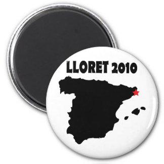 lloret De Mrz Spanien 2010 Runder Magnet 5,1 Cm
