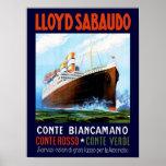 Lloyd Sabaudo ~ Conte Biancamano Plakat