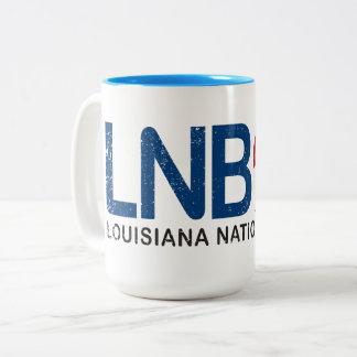 LNB (Nationalbank Louisianas) Kaffee-Tasse Zweifarbige Tasse