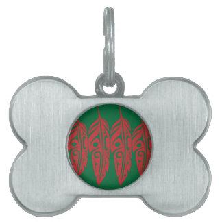 LNeel-Vier-Feder-Rot-Grün Tiermarke
