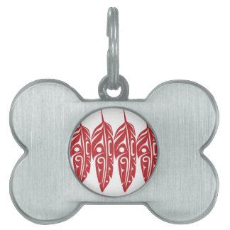 LNeel-Vier-Feder-Rot-Weiß Tiermarke