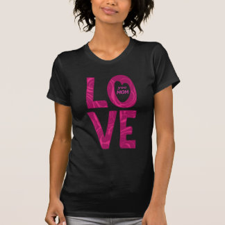 LO VE Sie Text-Entwurfsdamen-Dunkelheitst-shirt T-Shirt