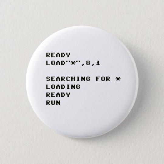 LOAD C64 RUNDER BUTTON 5,1 CM