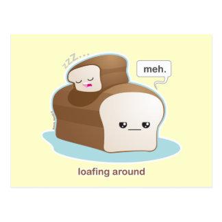 Loafing herum postkarte