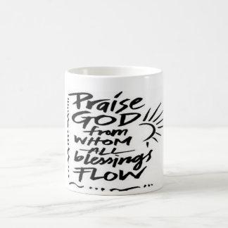 Lob-Gott, von dem aller Segen fließt Kaffeetasse